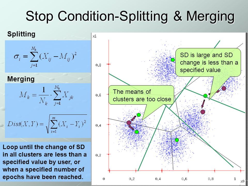 Stop Condition-Splitting & Merging