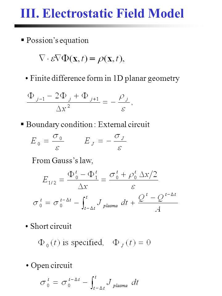 III. Electrostatic Field Model