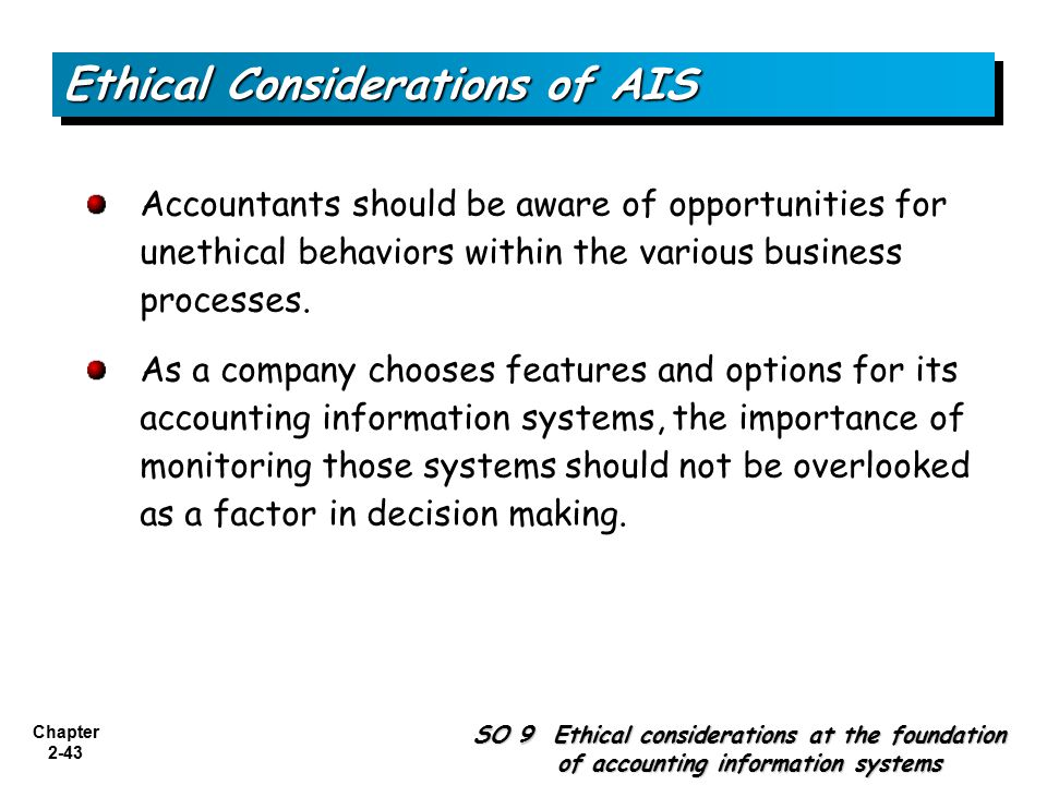 Ethical Considerations of AIS