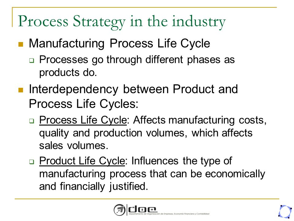 Process Strategy in the industry