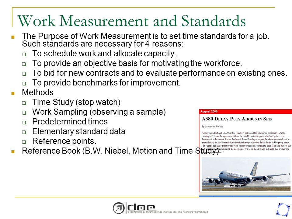 Work Measurement and Standards