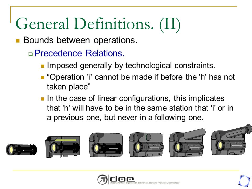 General Definitions. (II)