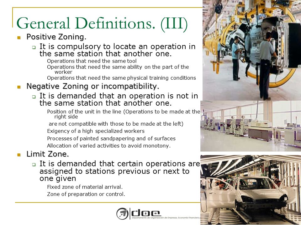 General Definitions. (III)