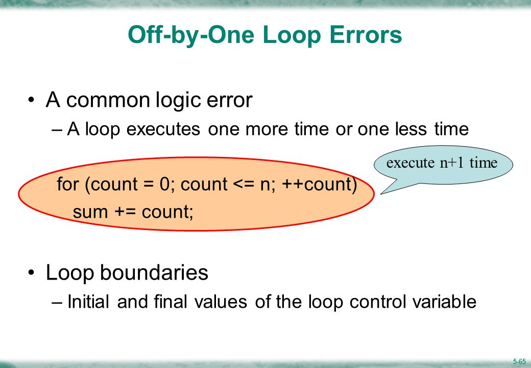 5.11 Common Programming Errors(1/3)