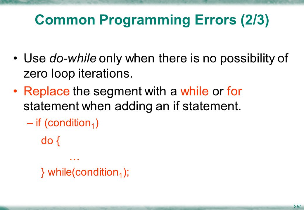 Common Programming Errors(3/3)