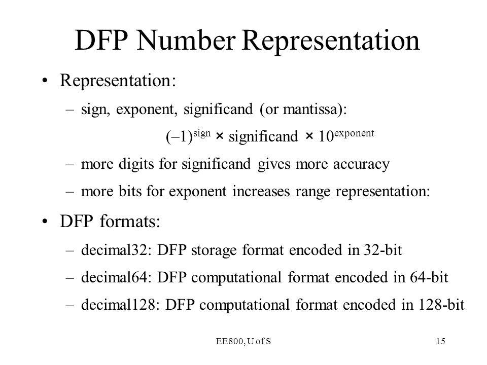 DFP Number Representation