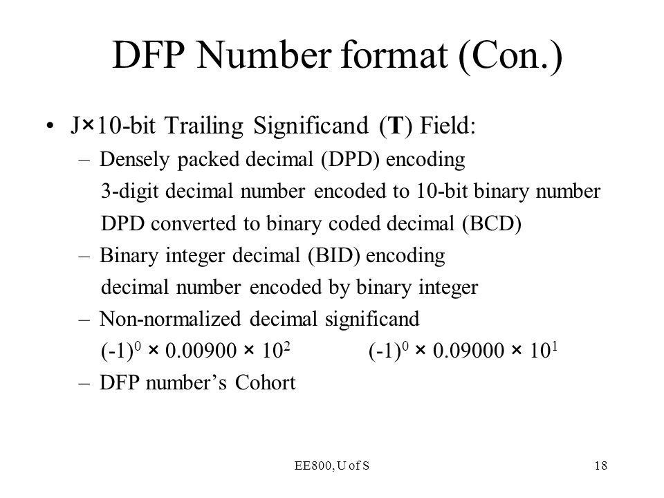 DFP Number format (Con.)
