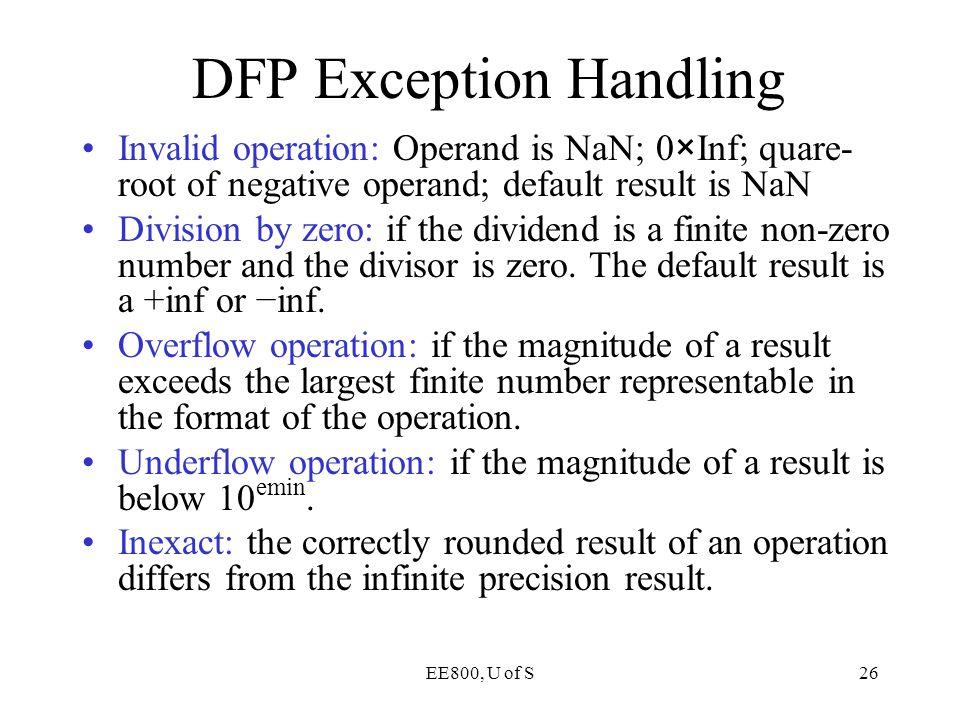 DFP Exception Handling
