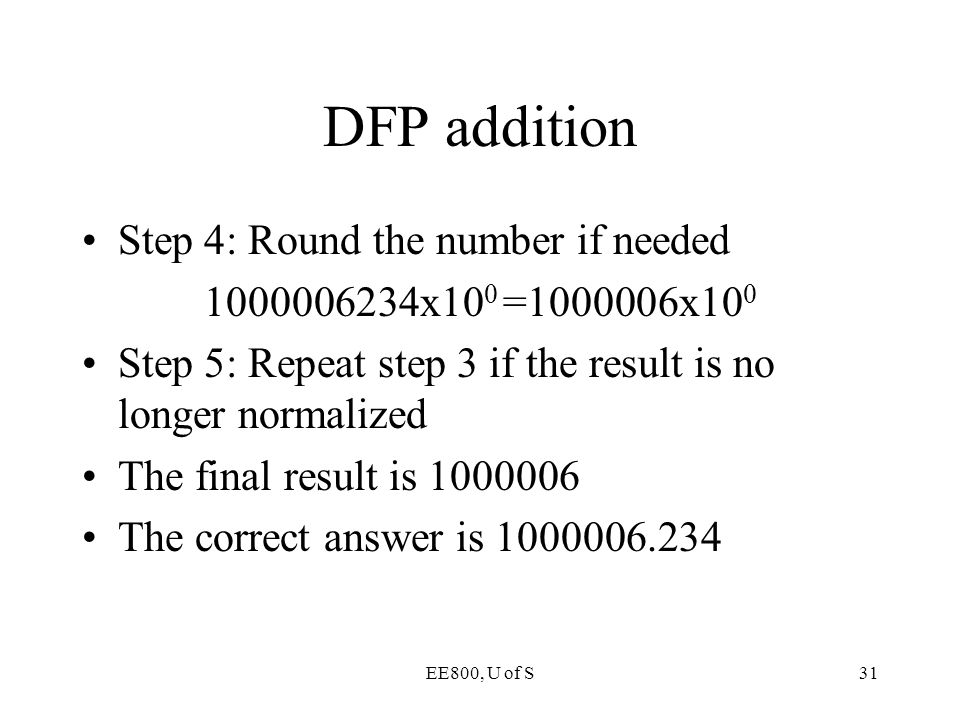 DFP addition Step 4: Round the number if needed
