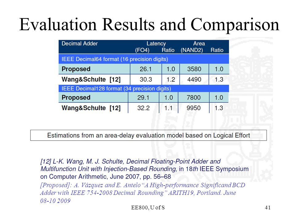 Evaluation Results and Comparison