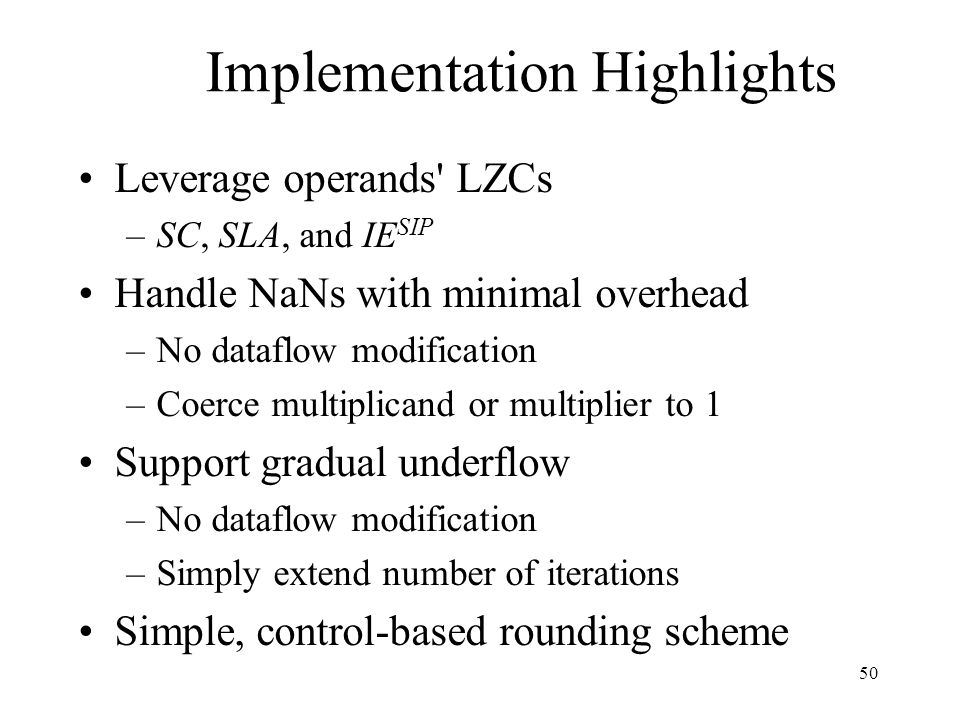 Implementation Highlights