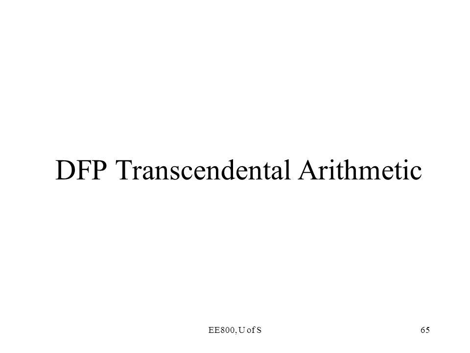 DFP Transcendental Arithmetic