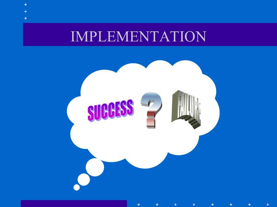IMPLEMENTATION FAILURE SUCCESS