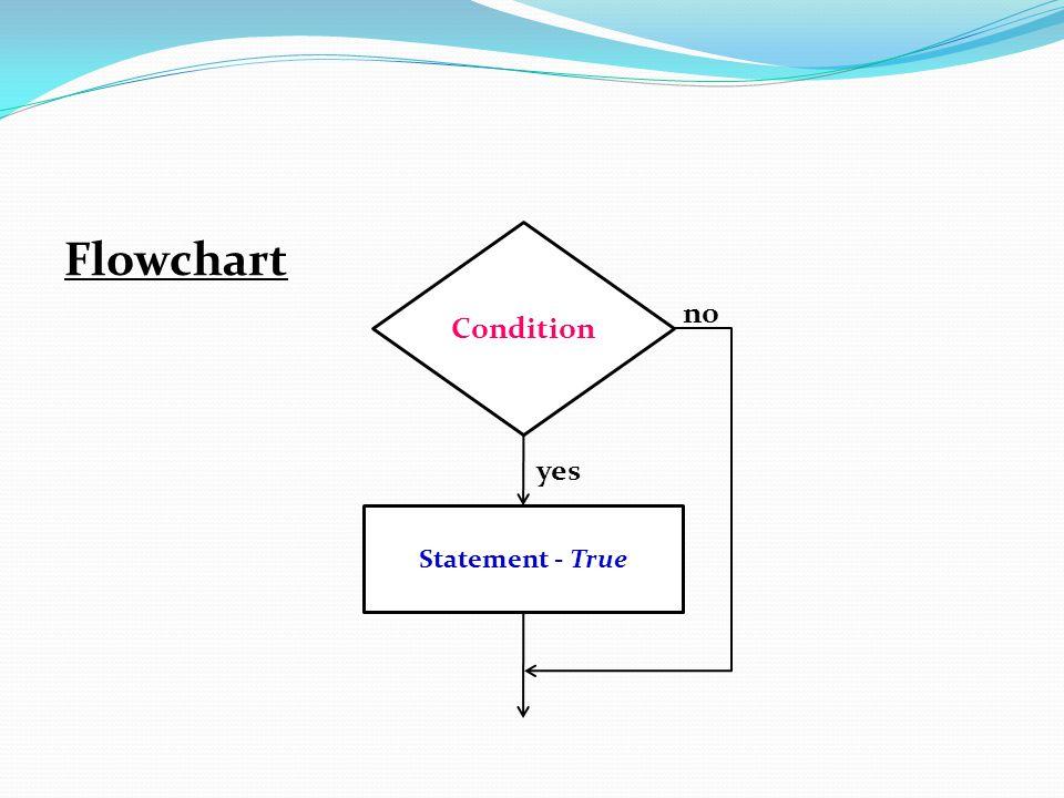 Flowchart no yes Condition Statement - True