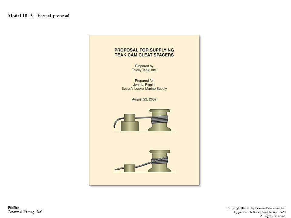 Model 10--3 Formal proposal