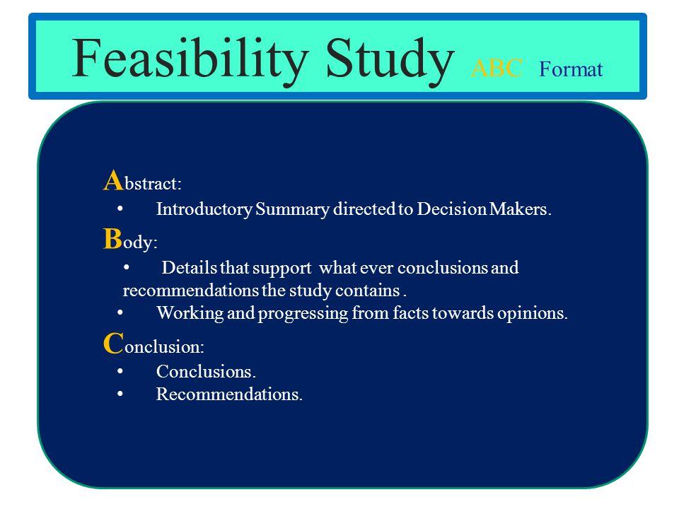 Feasibility Study ABC Format
