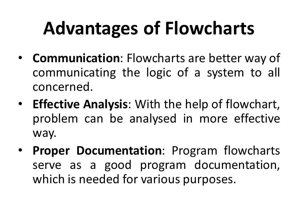 Advantages of Flowcharts