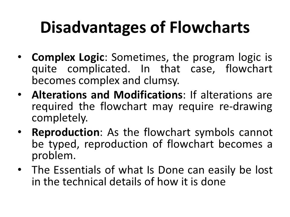 Disadvantages of Flowcharts