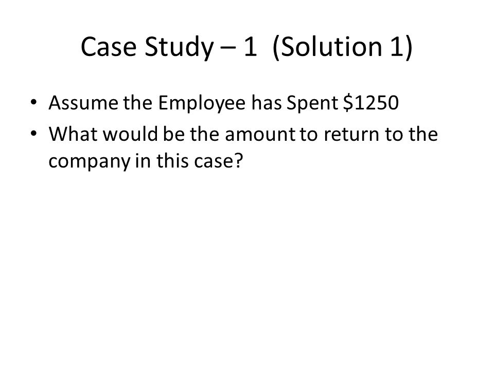 Case Study – 1 (Solution 1)