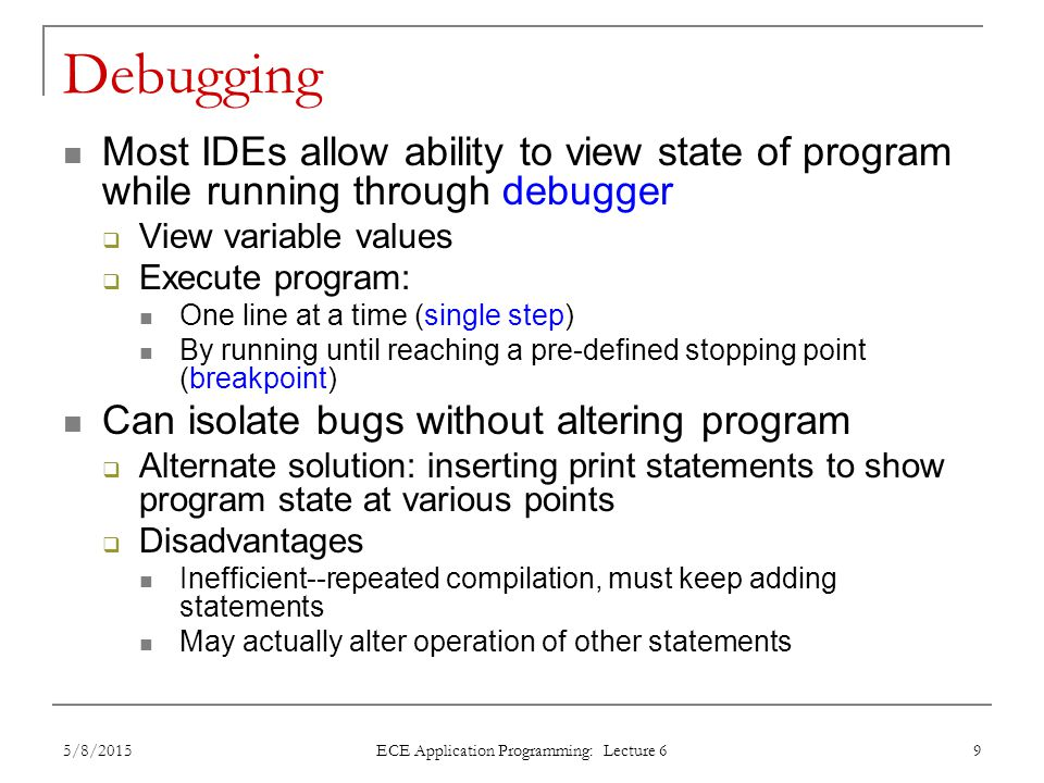 ECE Application Programming: Lecture 6