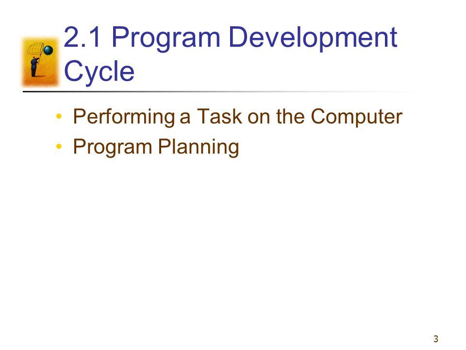 2.1 Program Development Cycle