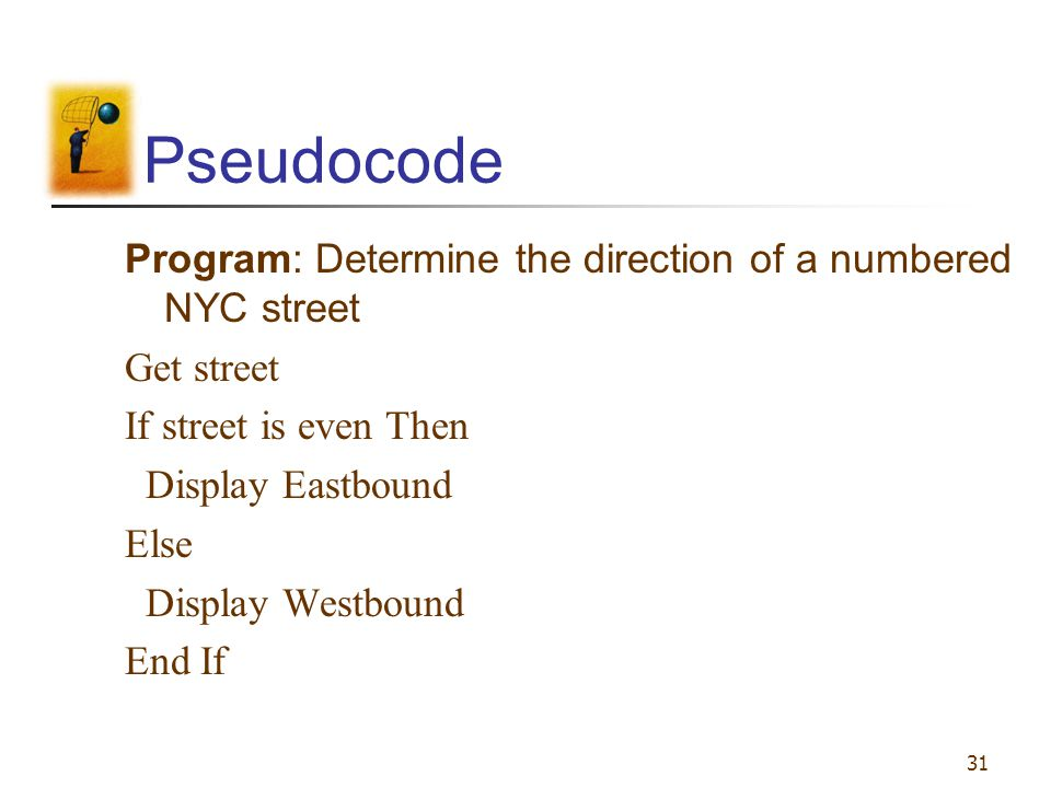 Pseudocode Program: Determine the direction of a numbered NYC street