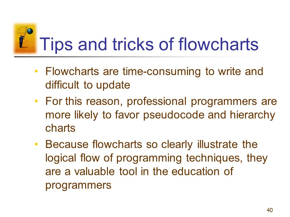Tips and tricks of flowcharts