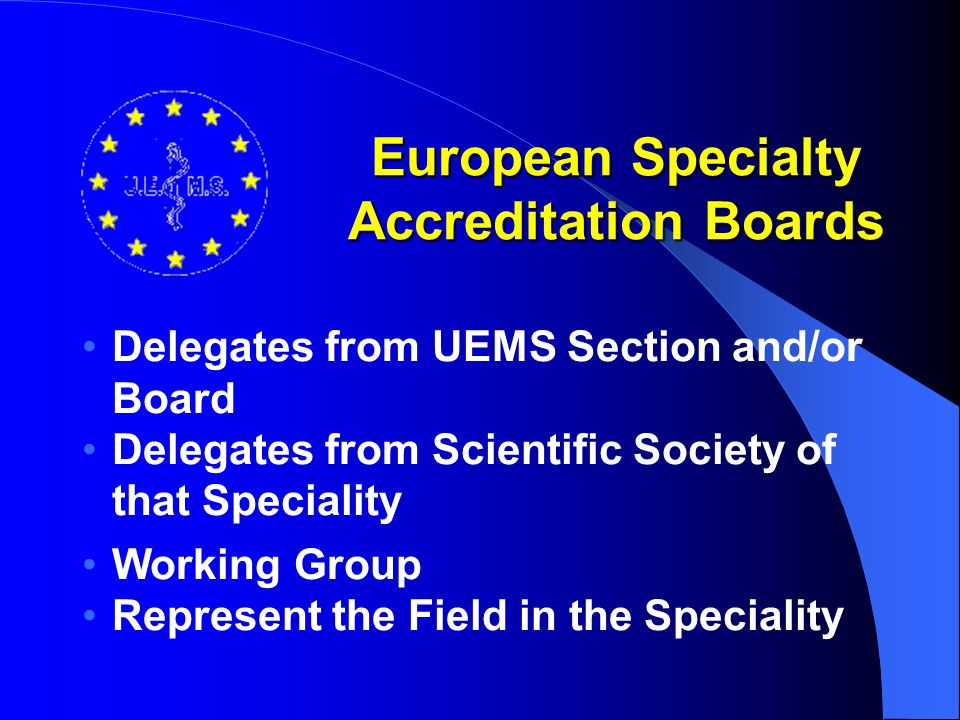 European Specialty Accreditation Boards