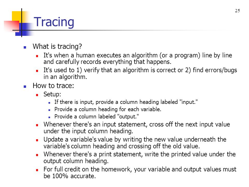 Tracing What is tracing How to trace: