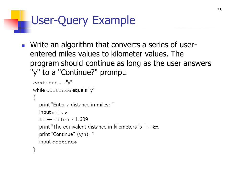 28 User-Query Example.