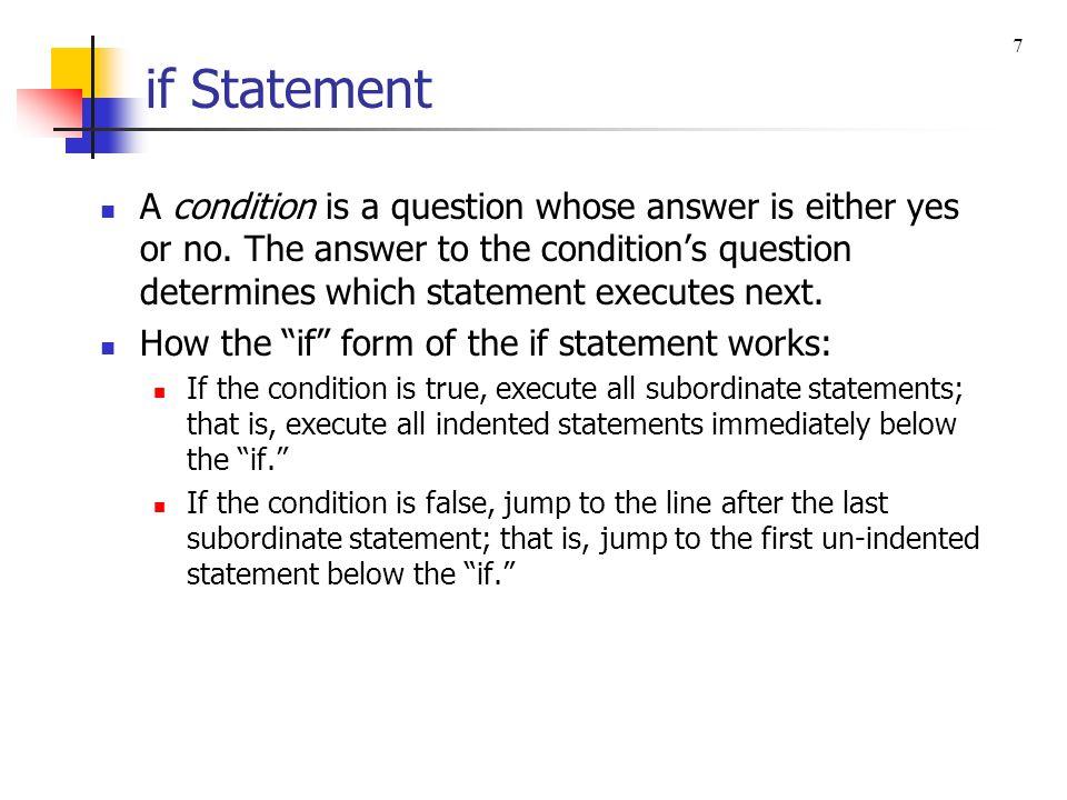 7 if Statement.