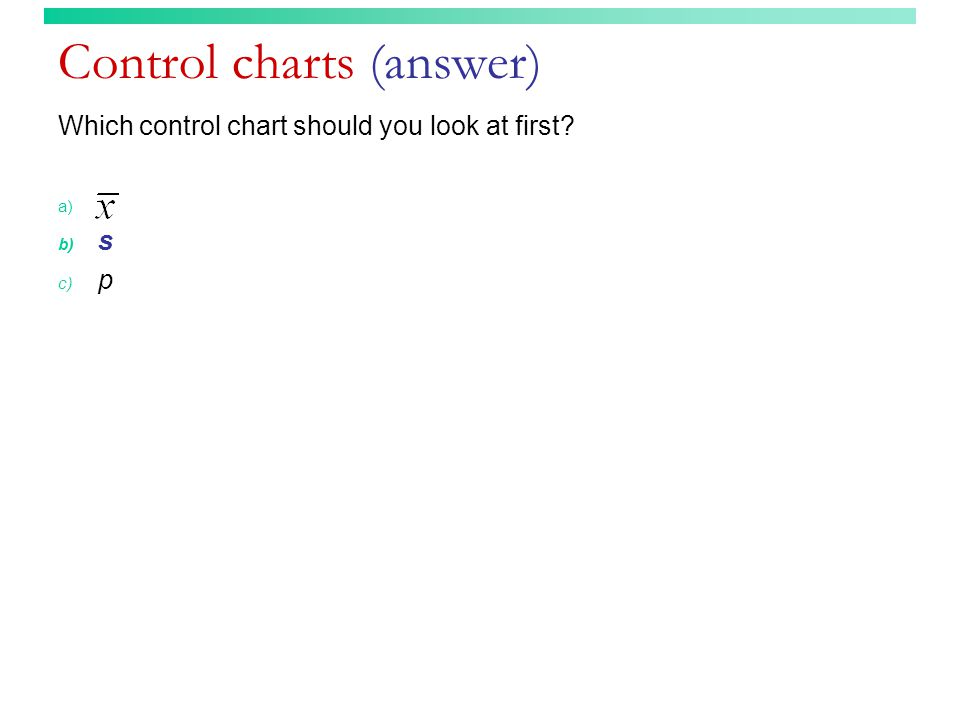 Control charts (answer)