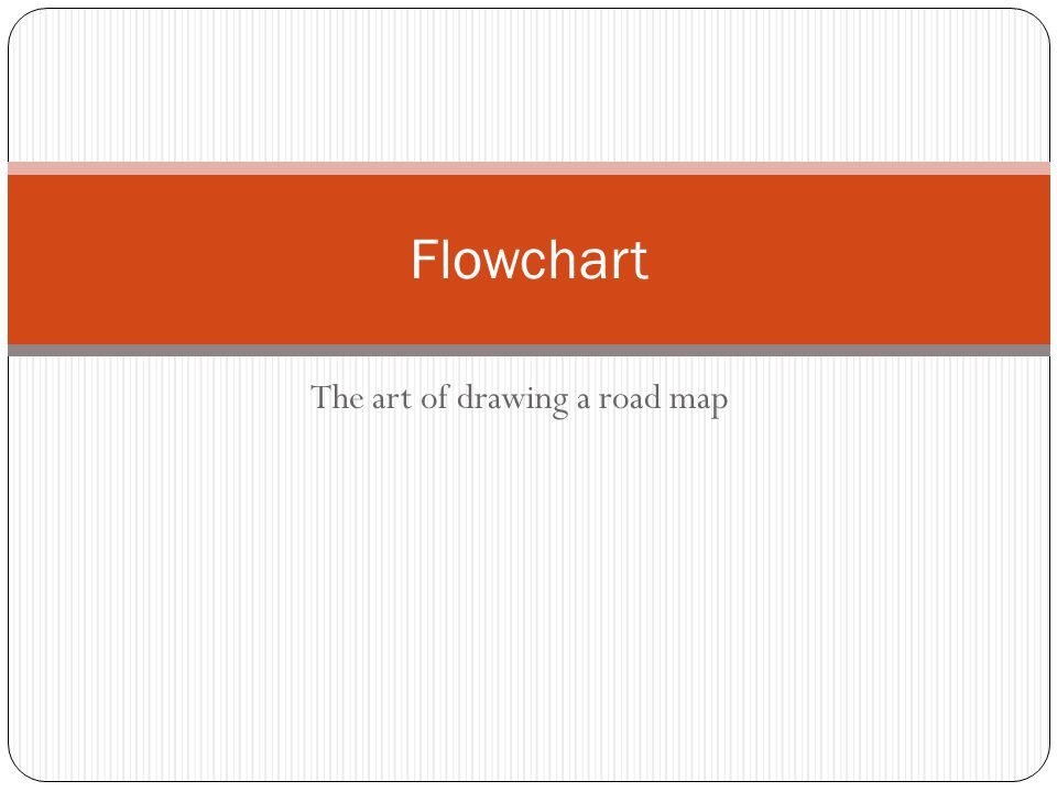 The art of drawing a road map