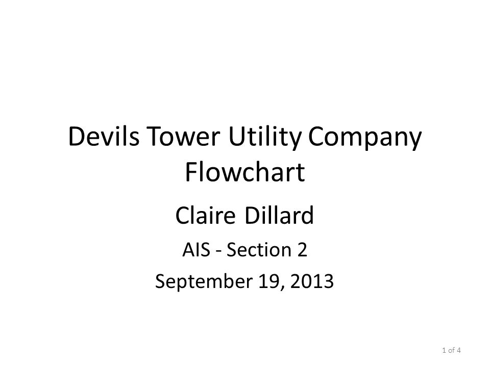 Devils Tower Utility Company Flowchart
