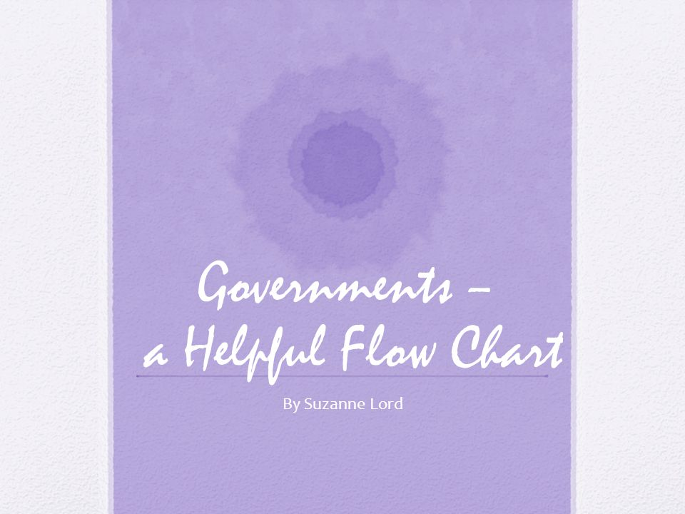 Governments – a Helpful Flow Chart