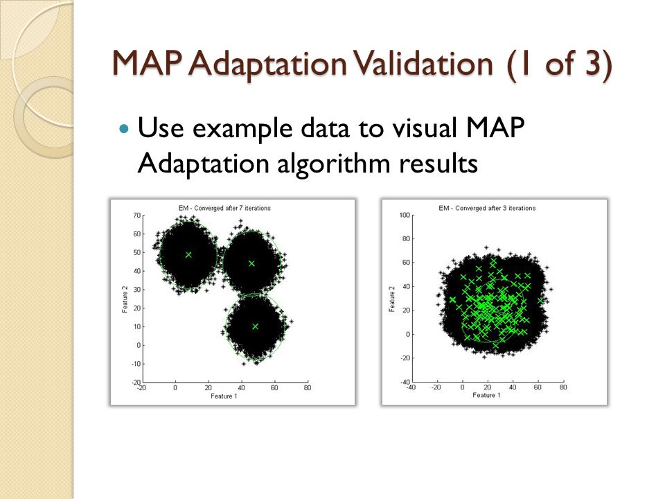 MAP Adaptation Validation (1 of 3)