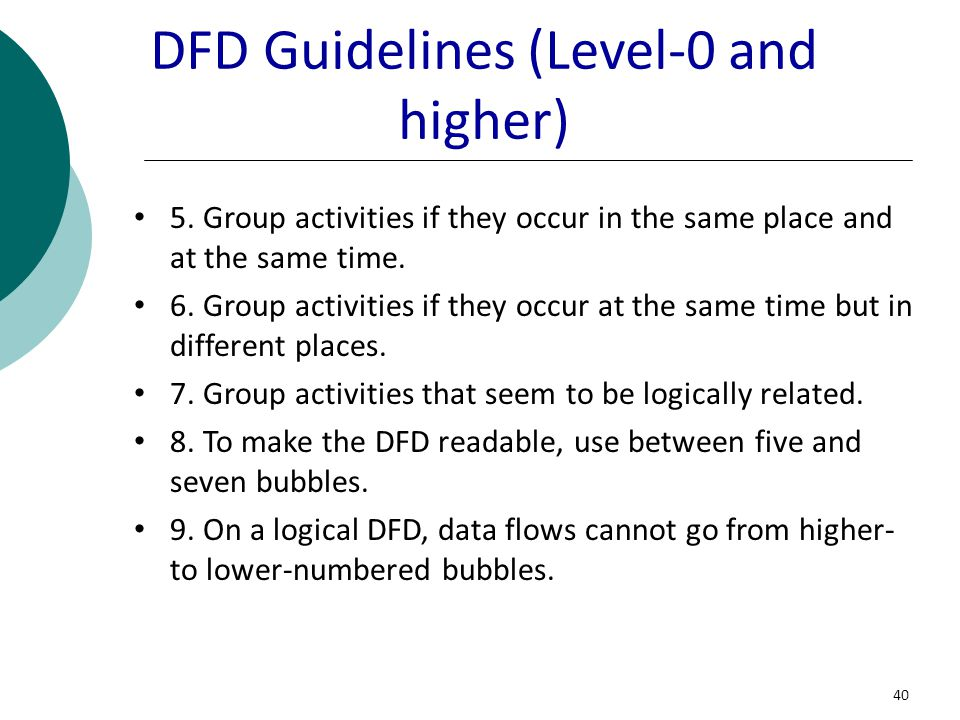 DFD Guidelines (Level-0 and higher)