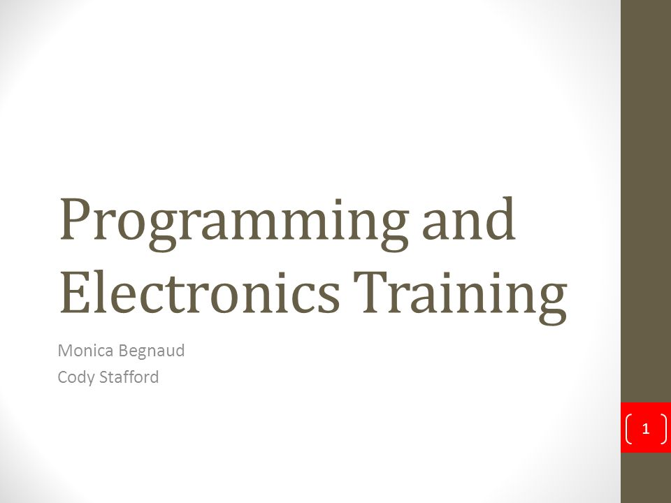 Programming and Electronics Training