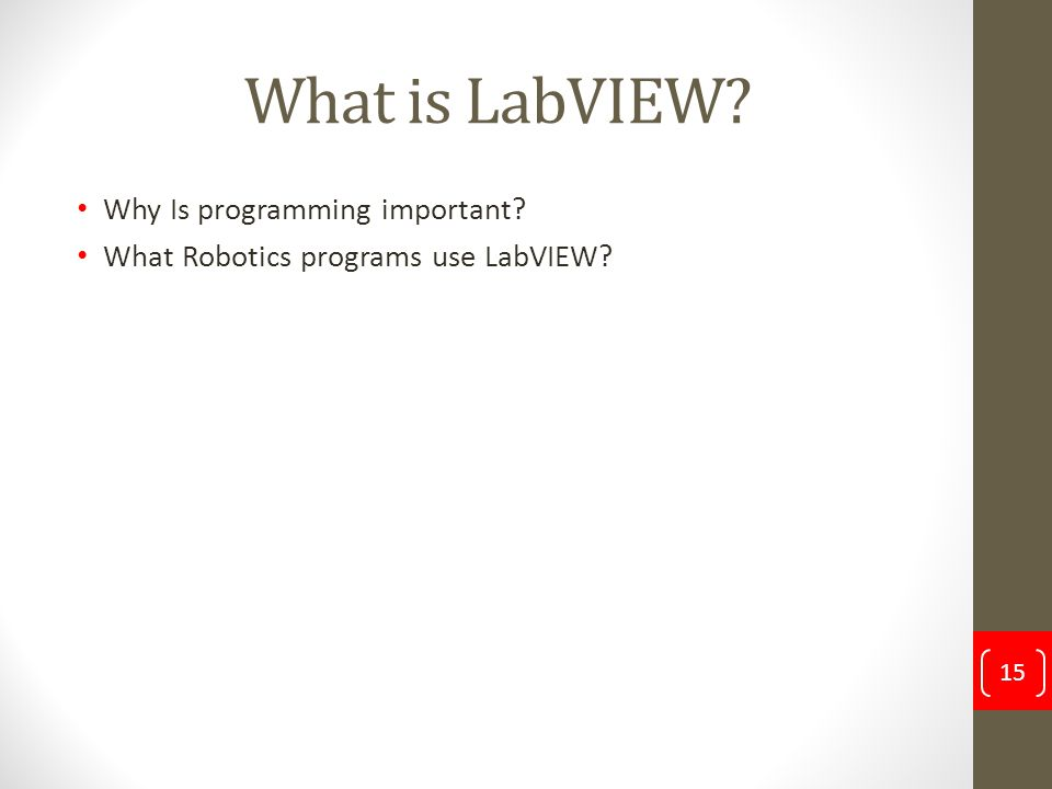 What is LabVIEW Why Is programming important