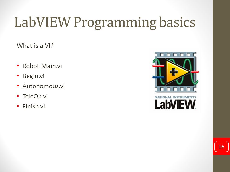 LabVIEW Programming basics