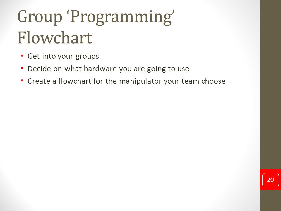 Group 'Programming' Flowchart