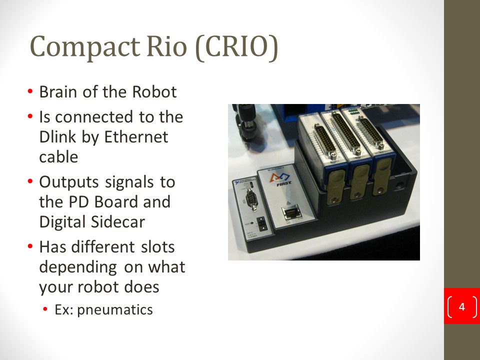 Compact Rio (CRIO) Brain of the Robot