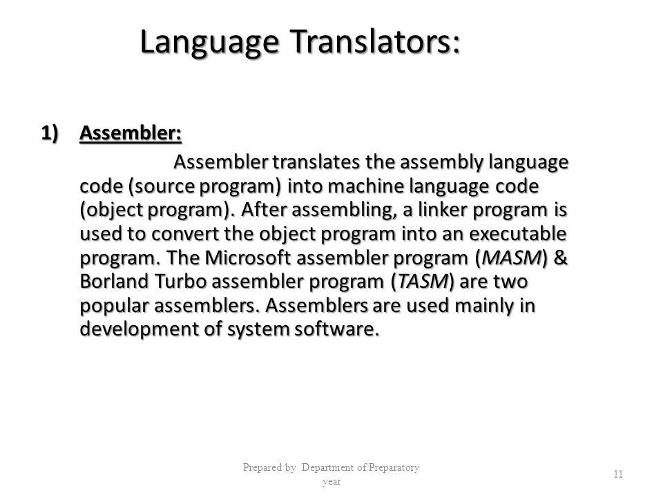 Language Translators: