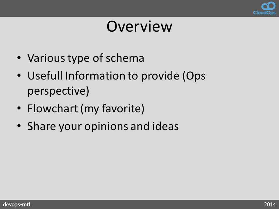 Overview Various type of schema