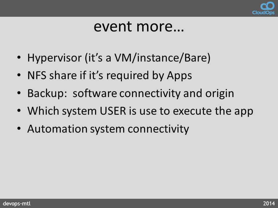 event more… Hypervisor (it's a VM/instance/Bare)