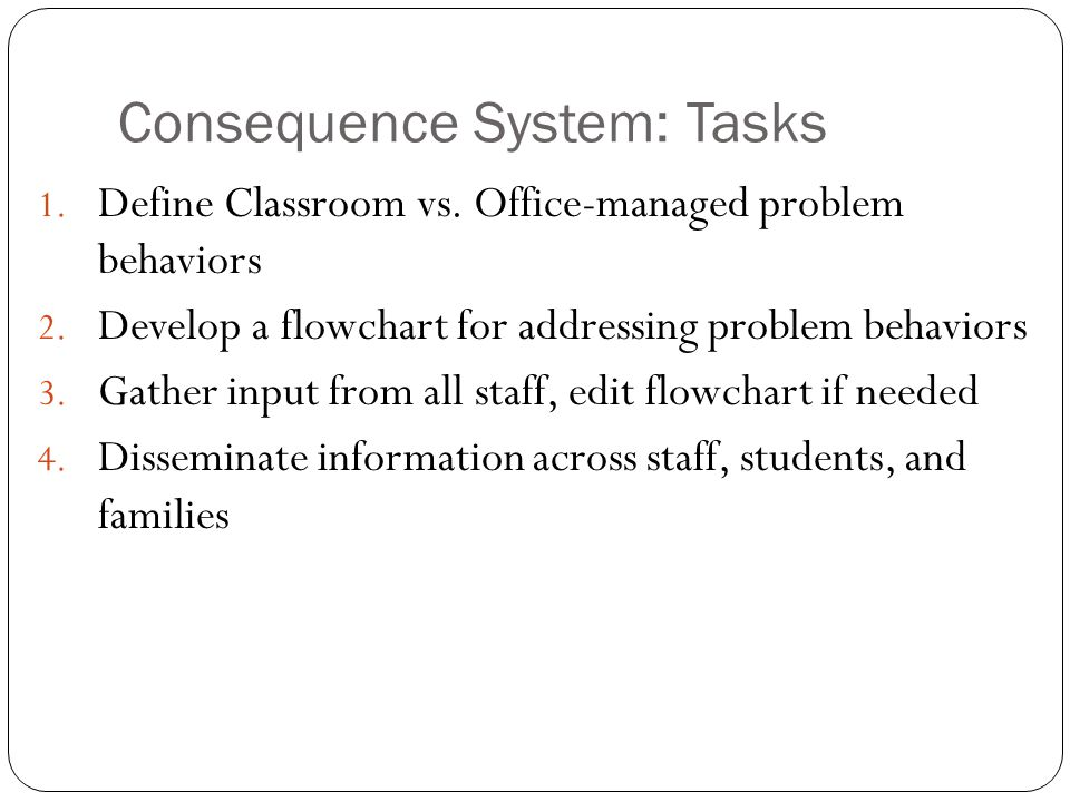 Consequence System: Tasks