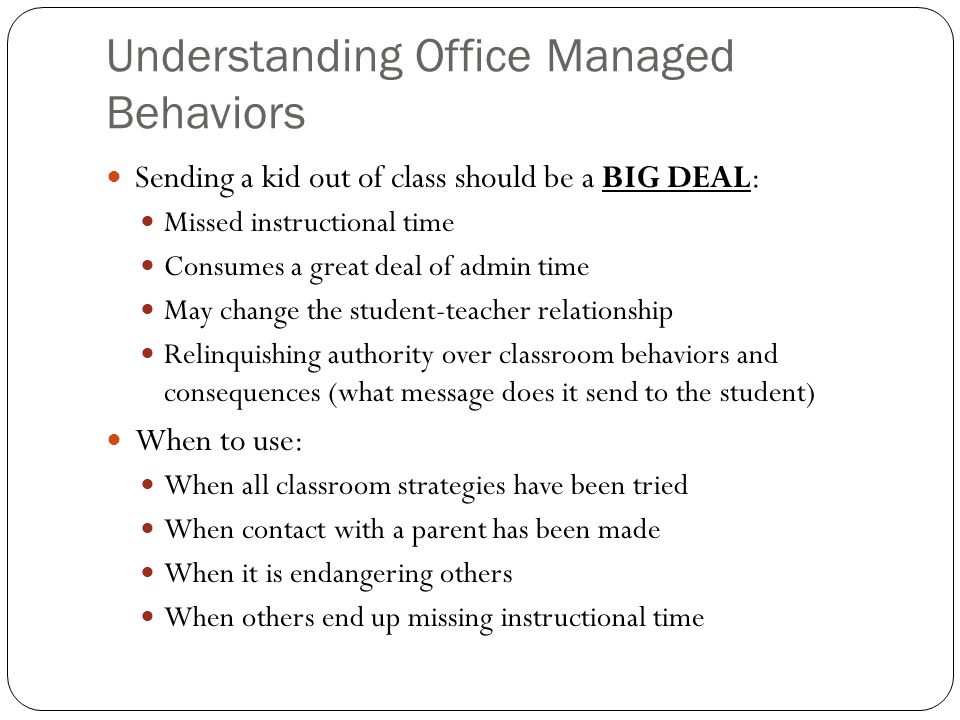 Understanding Office Managed Behaviors