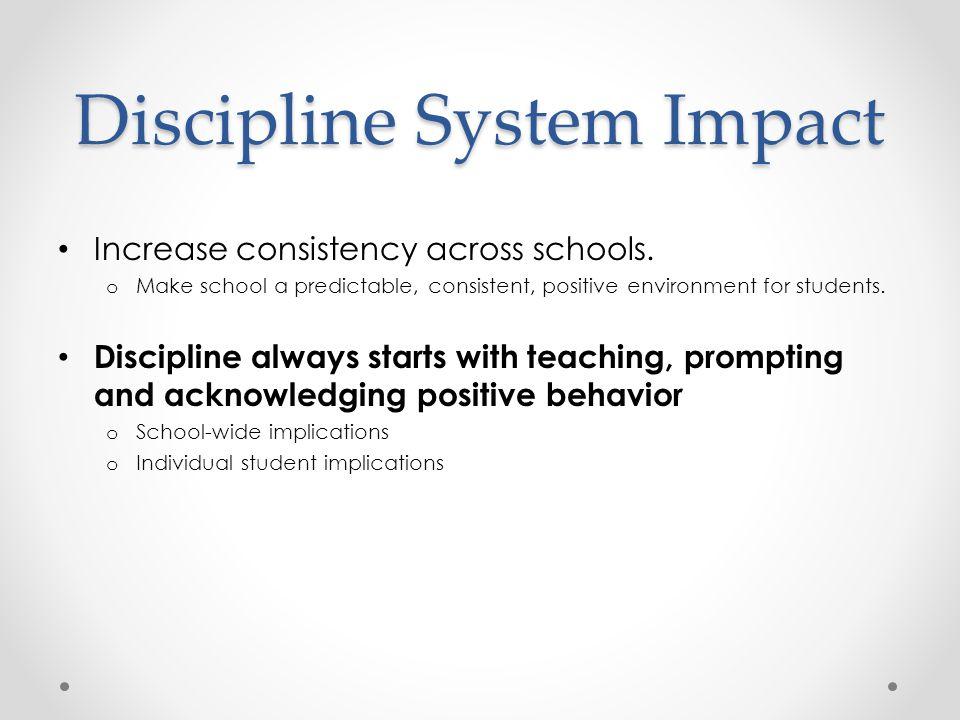 Discipline System Impact