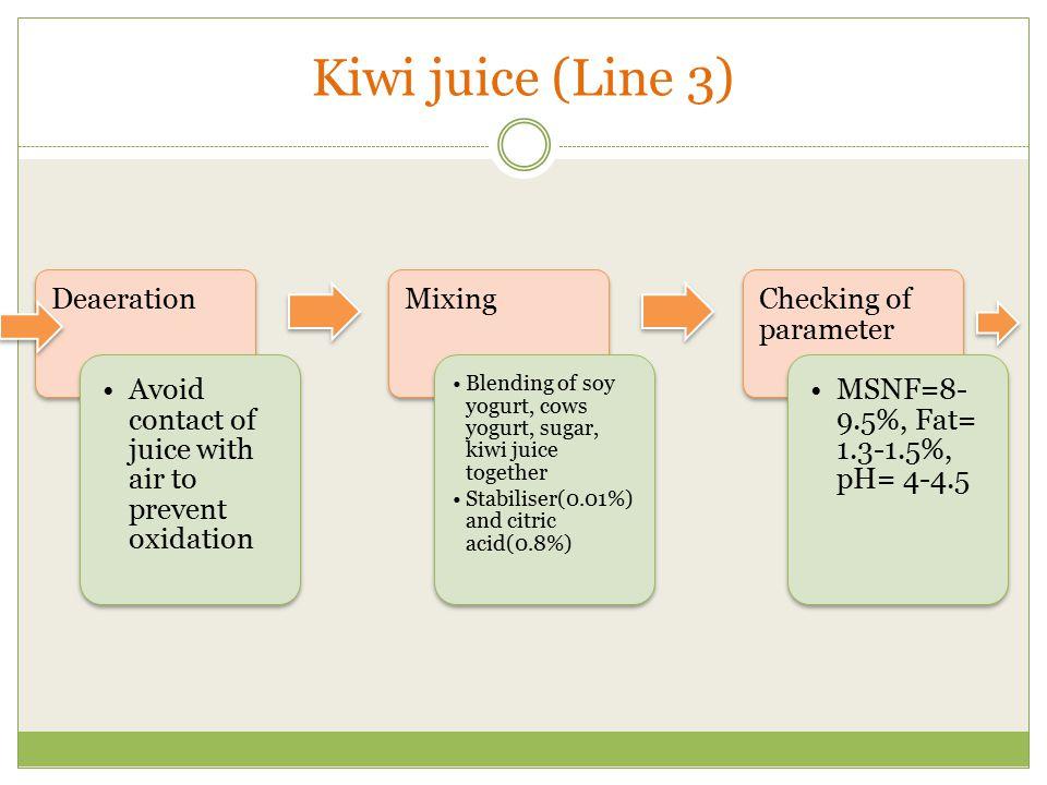 Kiwi juice (Line 3) Deaeration