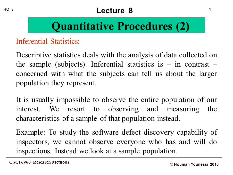an example of the relationship between descriptive and inferential statistics